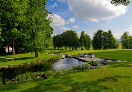 Teich terrasse
